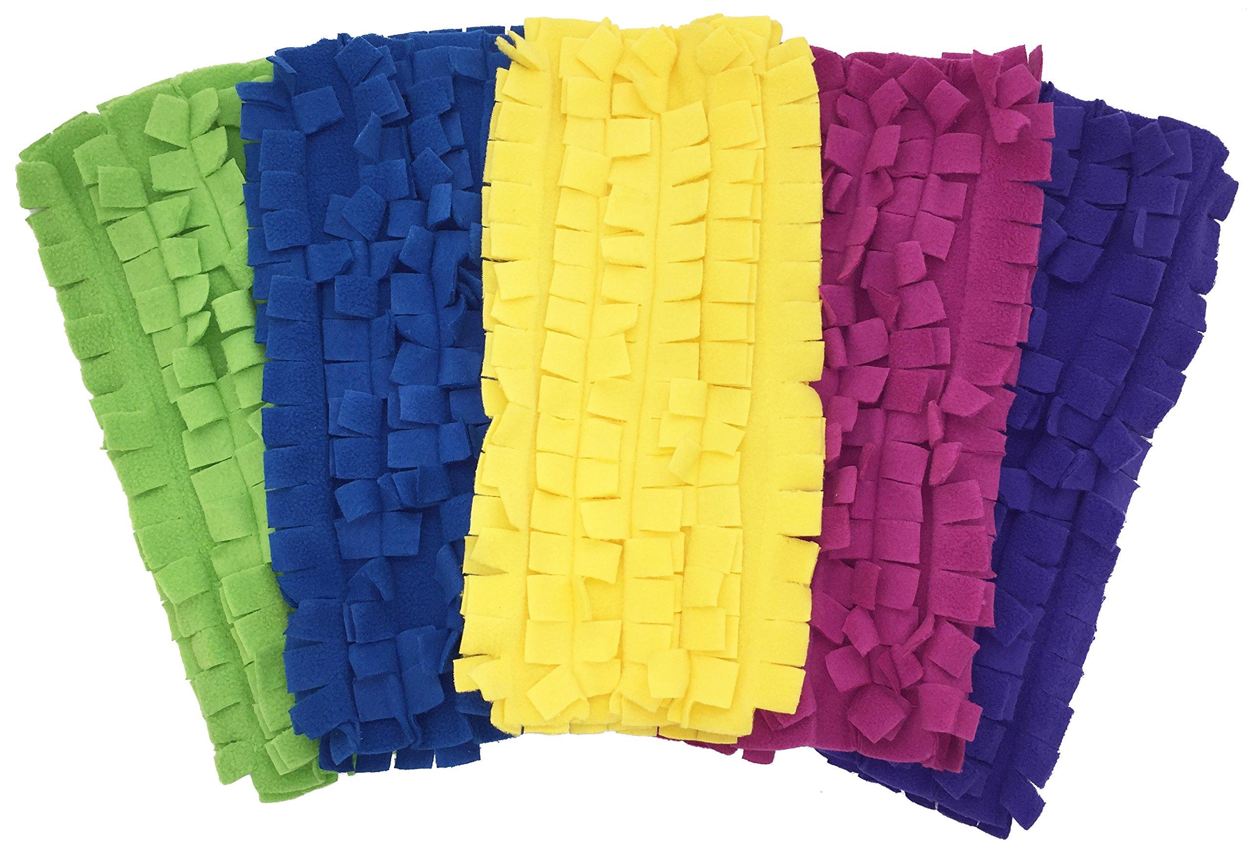 Xanitize Fleece Sweeper Mop Refills for Swiffer - Reusable, Dry Duster, for Hardwoods, Laminates - 5-pack Rainbow II