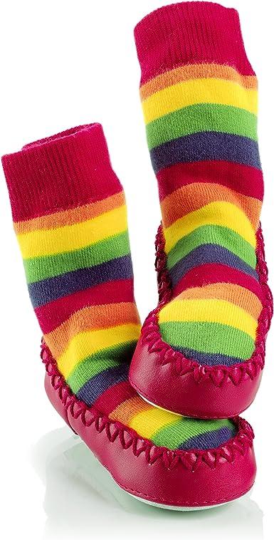 Floral Ditsy Mocc Ons Clever Little Moccasin Style Slipper Socks for Kids