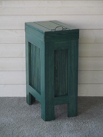 Genial Rustic Wood Wooden Trash Bin Kitchen Garbage Can 13 Gallon Recycle Bin Dog  Food Storage Hunter