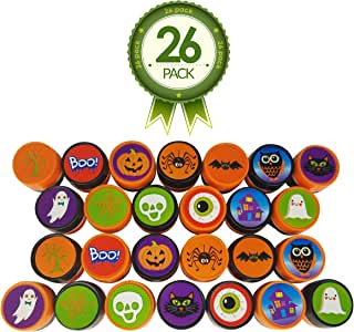 Halloween Stamps – Full 26 Piece Variety Pack With 13 Unique Stamp Designs – Ideal for Holiday Craft Stampers - Creative Kit for Science Fair Fun
