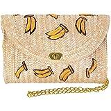 Pulama Straw Crossbody Crochet Shoulder Bag Pom Pom Tassel Pinapple Fringe Fashion Clutch