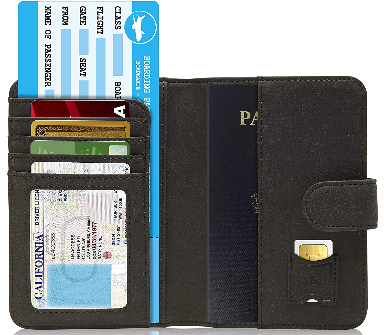 Handmade Leather Passport Case Travel Document Organizer For Men /& Women Passport Holder Cover Wallet RFID Blocking