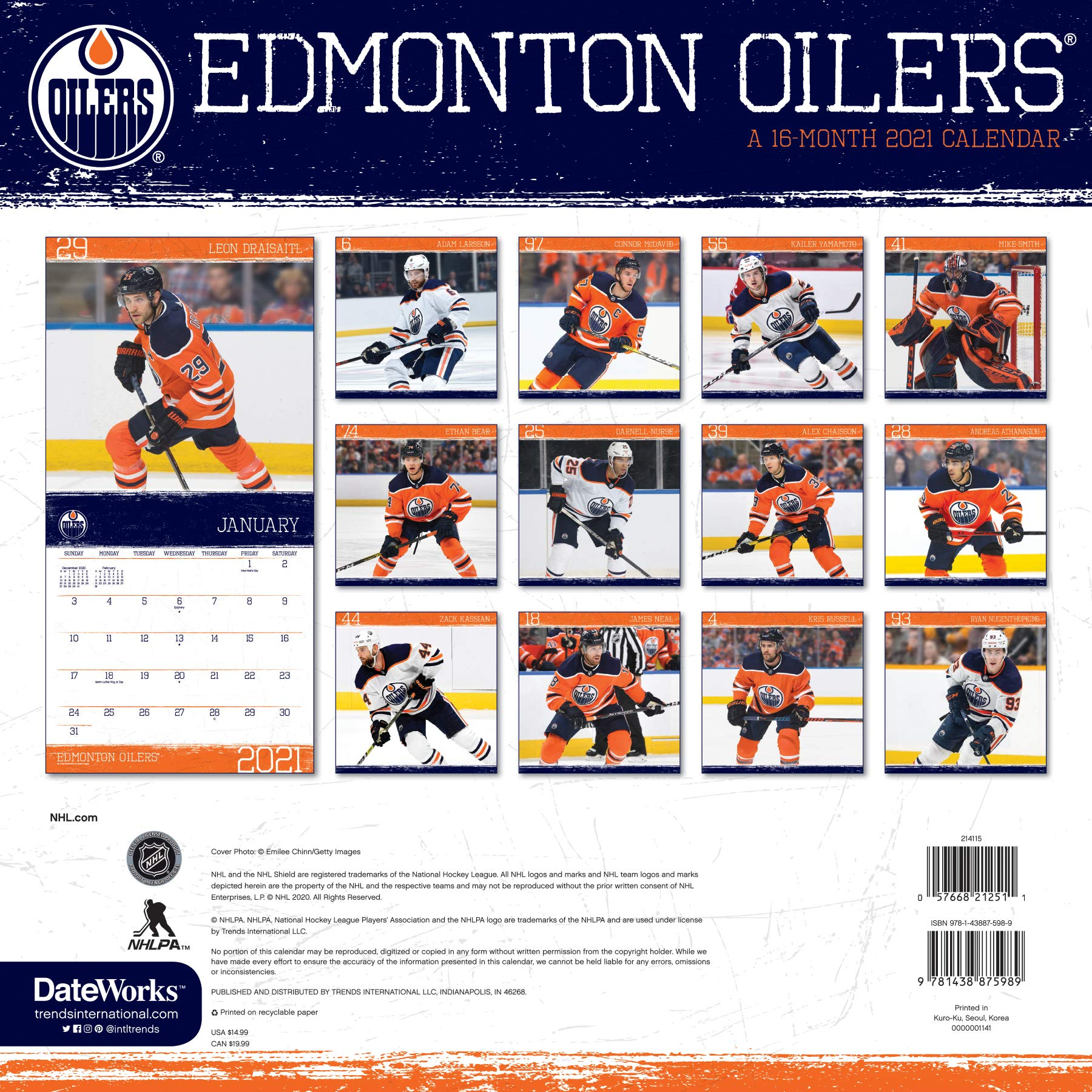 2021 Edmonton Oilers Wall Calendar Trends International 9781438875989 Amazon Com Books