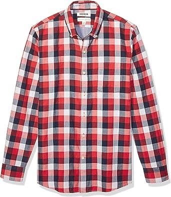 Marca Amazon - Goodthreads – Camisa reversible de manga larga y corte estándar para hombre: Amazon.es: Ropa y accesorios