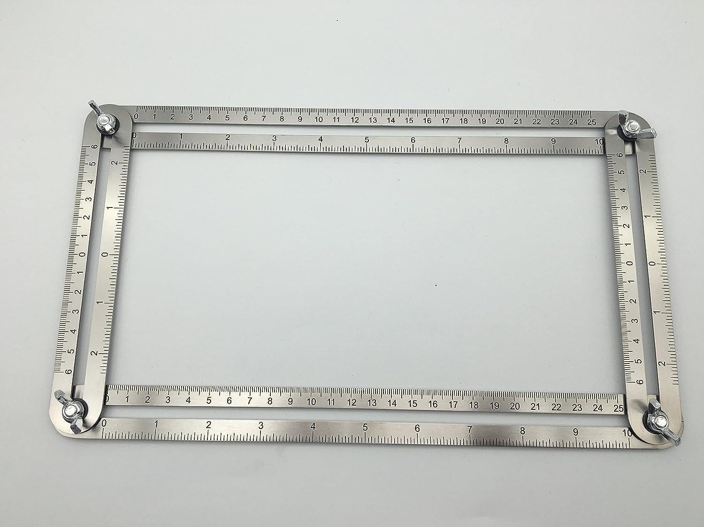 Steel Template Tool 4 sided Multi Angle Ruler by Razor Leaf