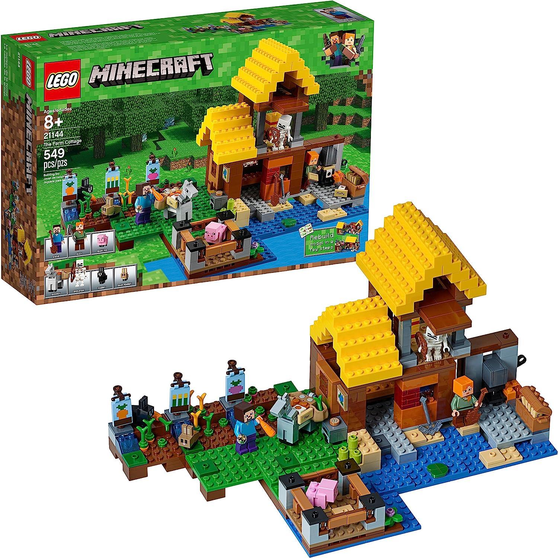 LEGO 21144 Minecraft The Farm Cottage - Kit de construcción (549 piezas): Amazon.es: Juguetes y juegos