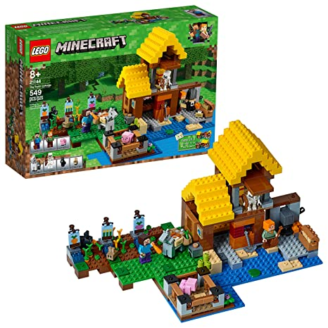 Amazon.com: LEGO Minecraft the Farm Cottage 21144 Building Kit (549 ...