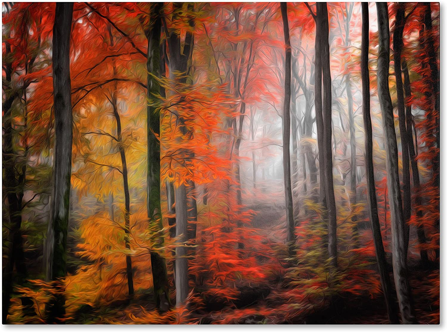 Wildly Red Artwork By Philippe Sainte Laudy 30 By 47 Inch Canvas Wall Art Posters Prints
