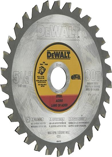 Dewalt 5 1 2 Inch Metal Cutting Blade Dwa7770 Circular Saw Blades Amazon Com
