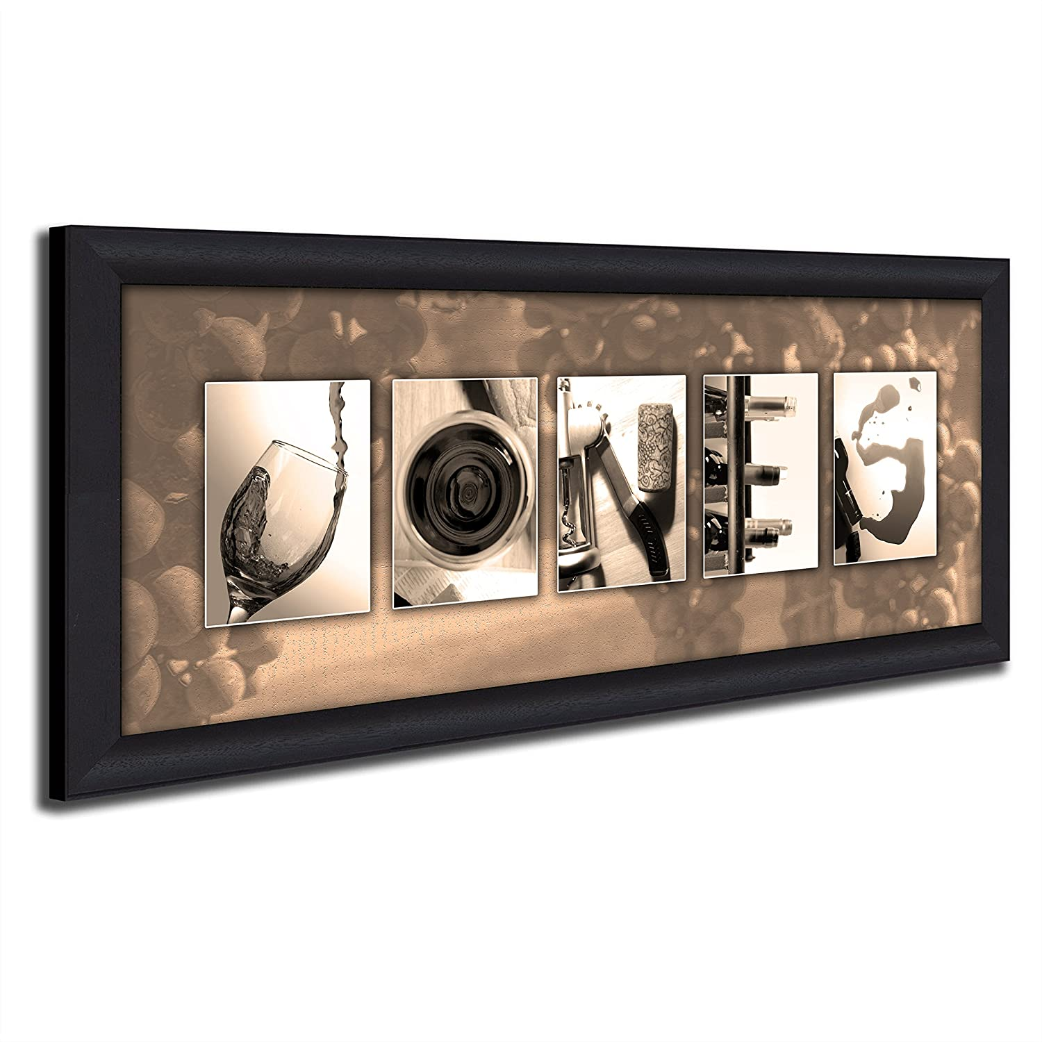 amazon com framed canvas personalized wine name art perfect