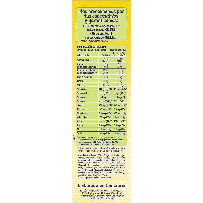 Nestlé Multicereales Papilla de Cereales Instantánea de Fácil Disolución - 500 g: Amazon.es: Amazon Pantry