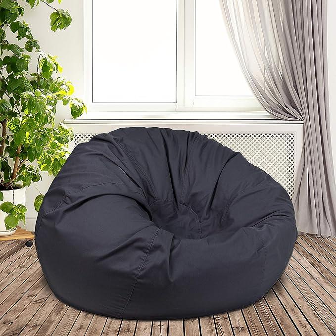 Amazon.com: Silla de puf sólido para muebles Flash, Tela ...