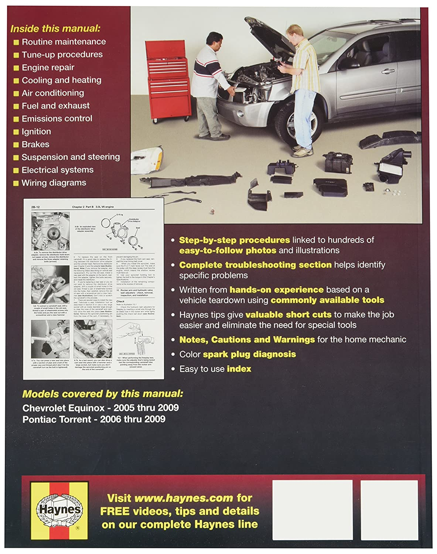 Amazon.com: Haynes Chevrolet Equinox (2005 thru 2009) and Pontiac Torrent ( 2006 thru 2009) Haynes Repair Manual (38040): Automotive