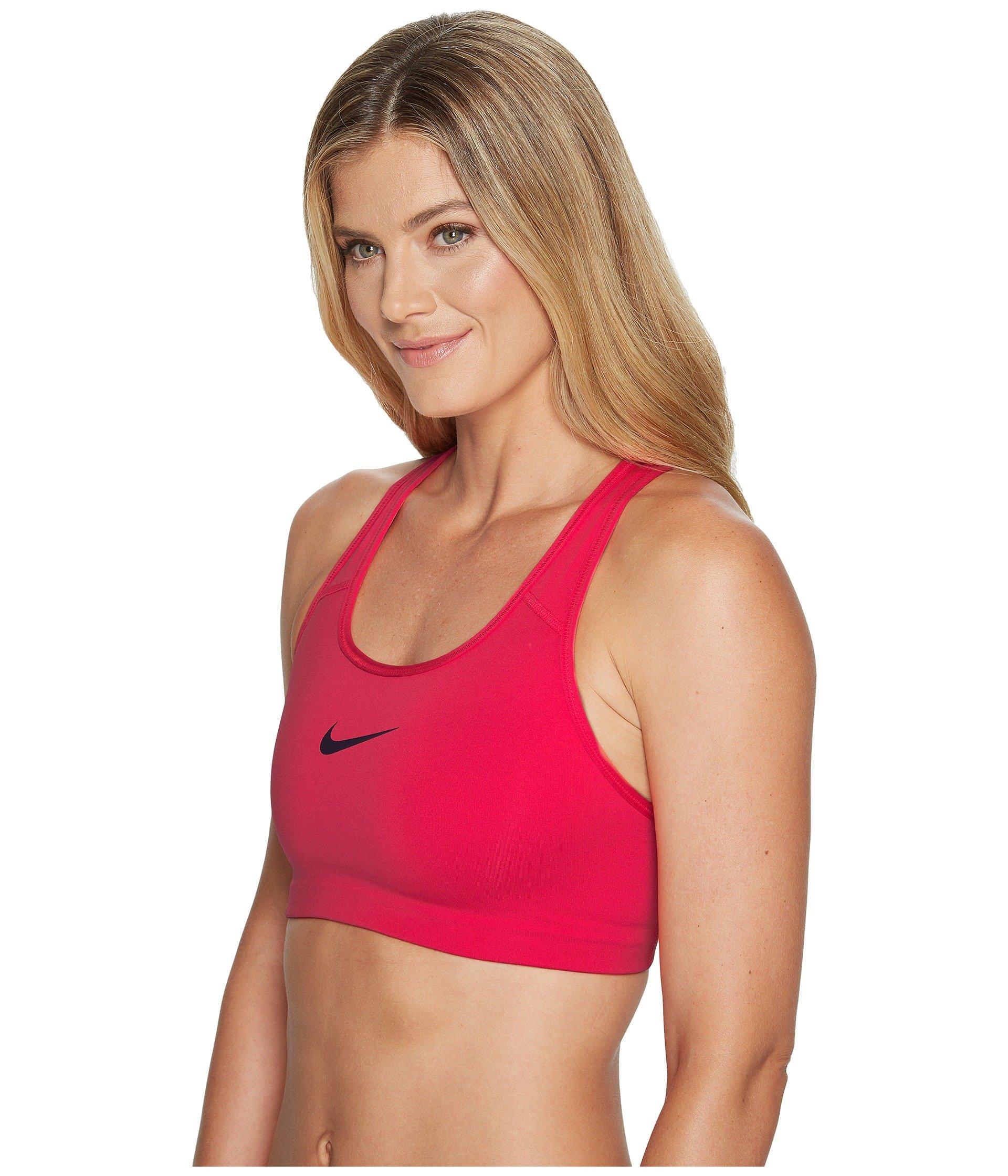 Nike Women's Pro Classic Swoosh (XS, Light Hot Red/Port Wine) by Nike (Image #2)