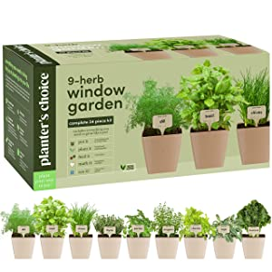 Planters' Choice Indoor Organic Herb Growing Kit