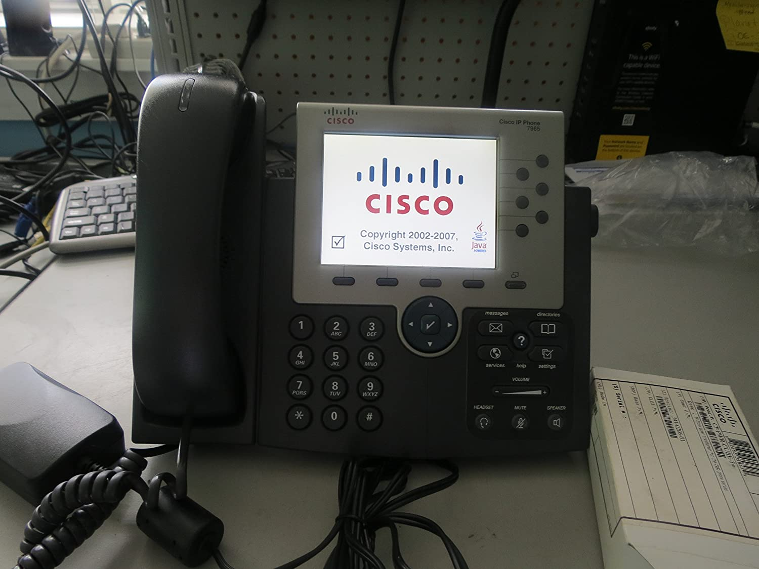 Amazon com: Cisco Unified IP Phone 7965G Color Gigabit VOIP