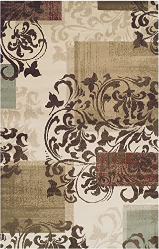 SUPERIOR Aspatria Geometric Scroll Indoor Area Rug