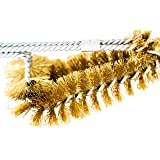 """Backyard Dudes® BBQ Grill Brass Cleaning Brush 15"""" Made in USA Brass Dual Sets bristles Soft"""