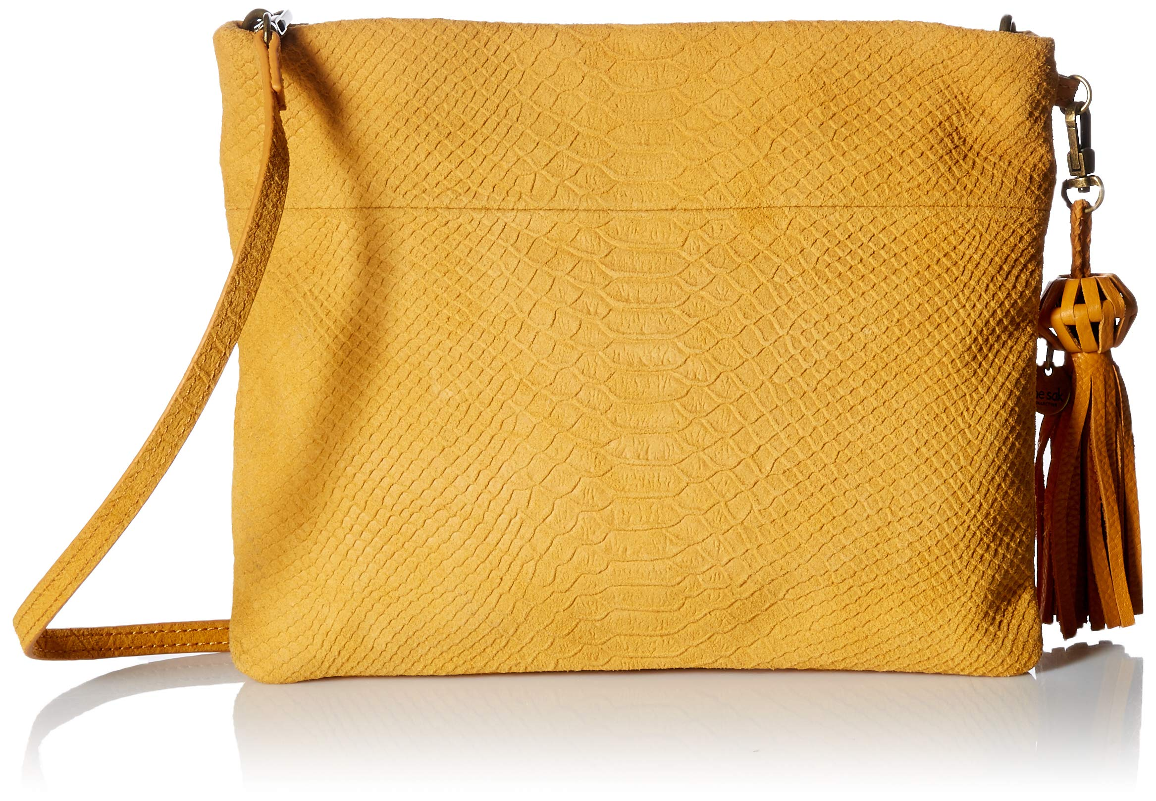 The Sak Tomboy Convertible Clutch, amber exotic