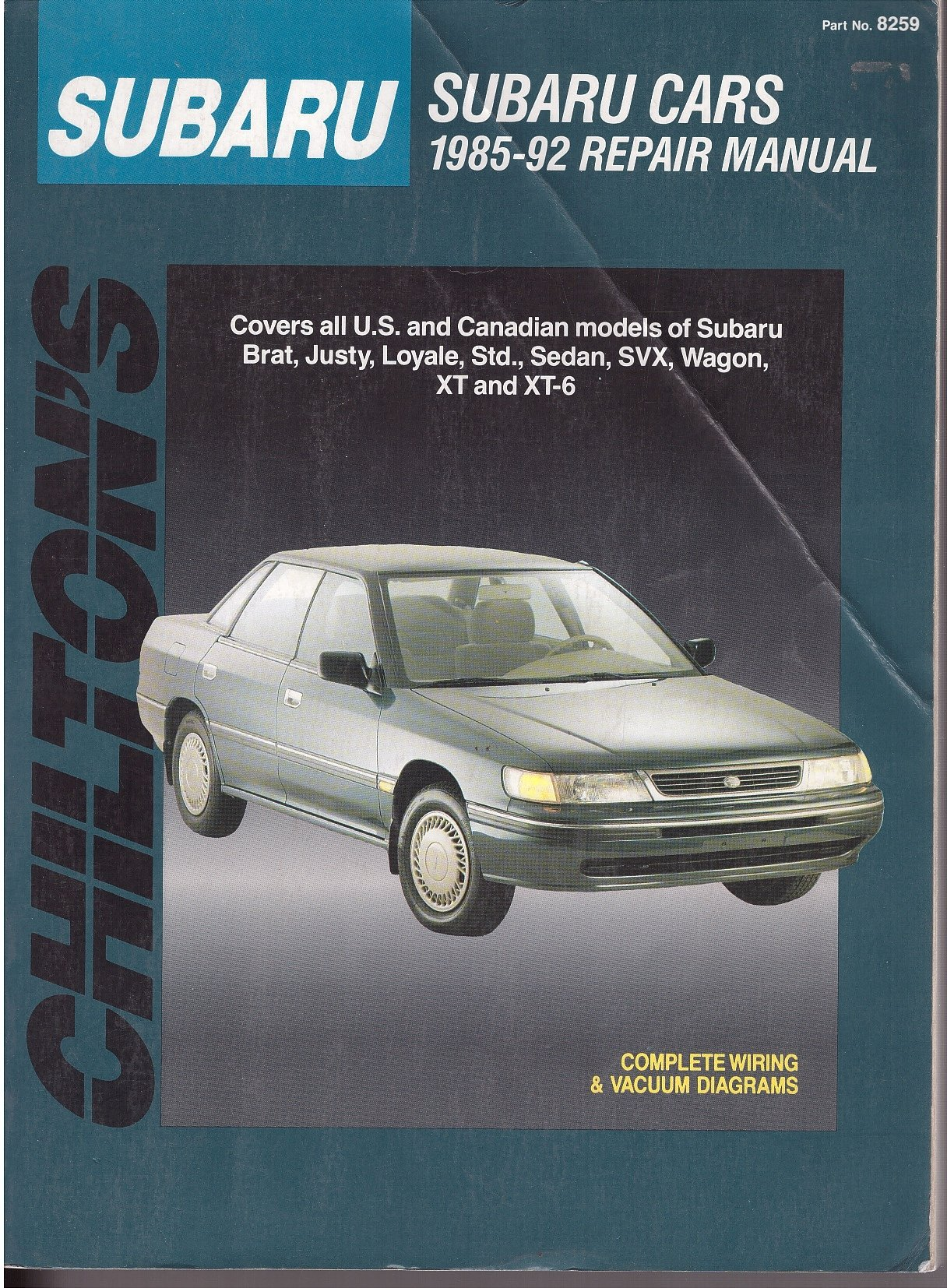 Chiltons Subaru Cars 1985 92 Repair Manual Total Car Care Justy Wiring Schematic Part No 8259 Automotive Editorial Dept 9780801982590 Books