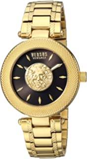Versus by Versace Womens BRICK LANE Quartz Stainless Steel and Gold Plated Casual Watch