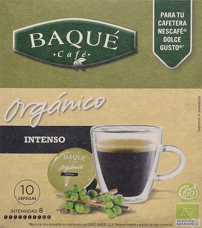 Cafés Baqué - 10 Capsulas Compatibles Dolce Gusto. Café Organico Intenso: Amazon.es: Alimentación y bebidas