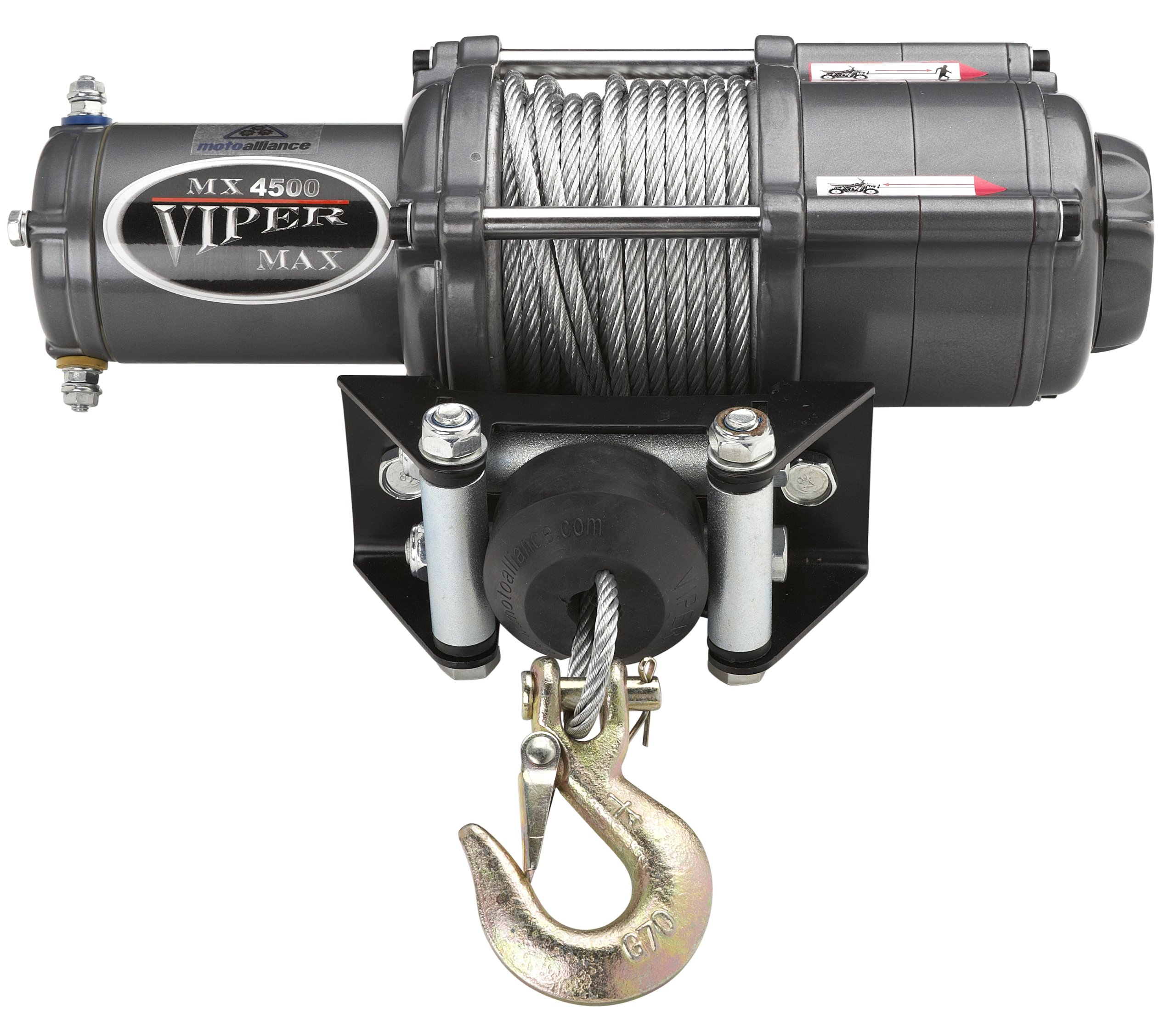 VIPER Max 4500lb ATV/UTV Winch Kit with 50 feet Steel Cable
