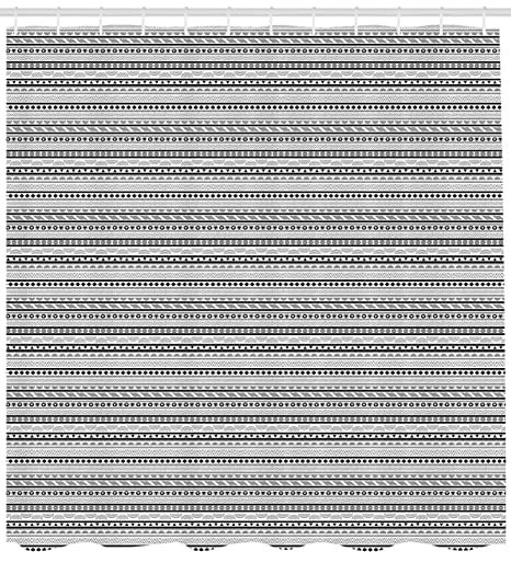 Ethnic cortina de ducha por Ambesonne, Geométrico arreglo Oriental triángulos bavieradiamantes Diana círculos, de