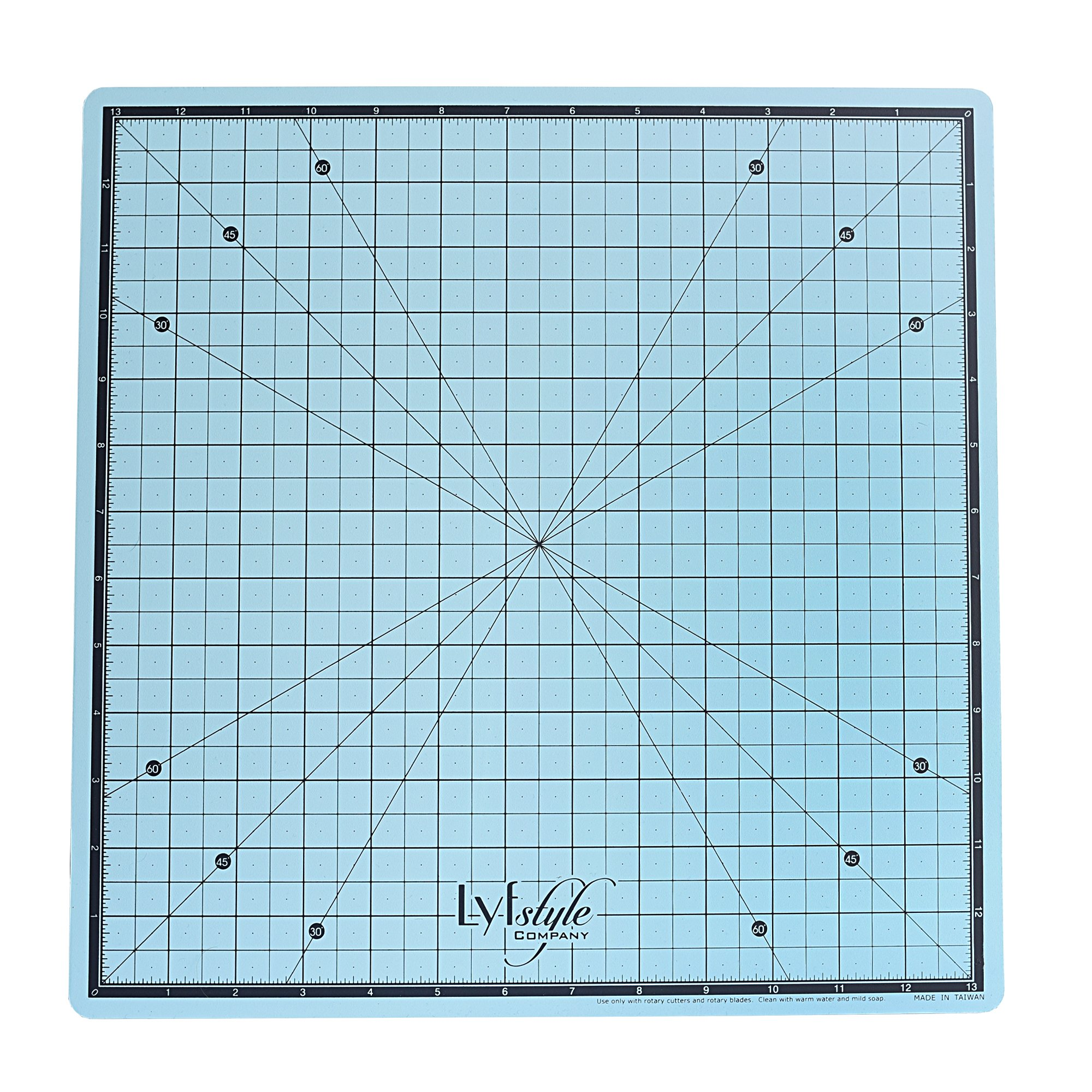 Lyfstyle Rotating Self Healing Cutting Mat/14x14 inch/Icy Blue by Lyfstyle ''Quality Products''