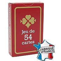 Jeu de 54 cartes : Gauloise Rouge