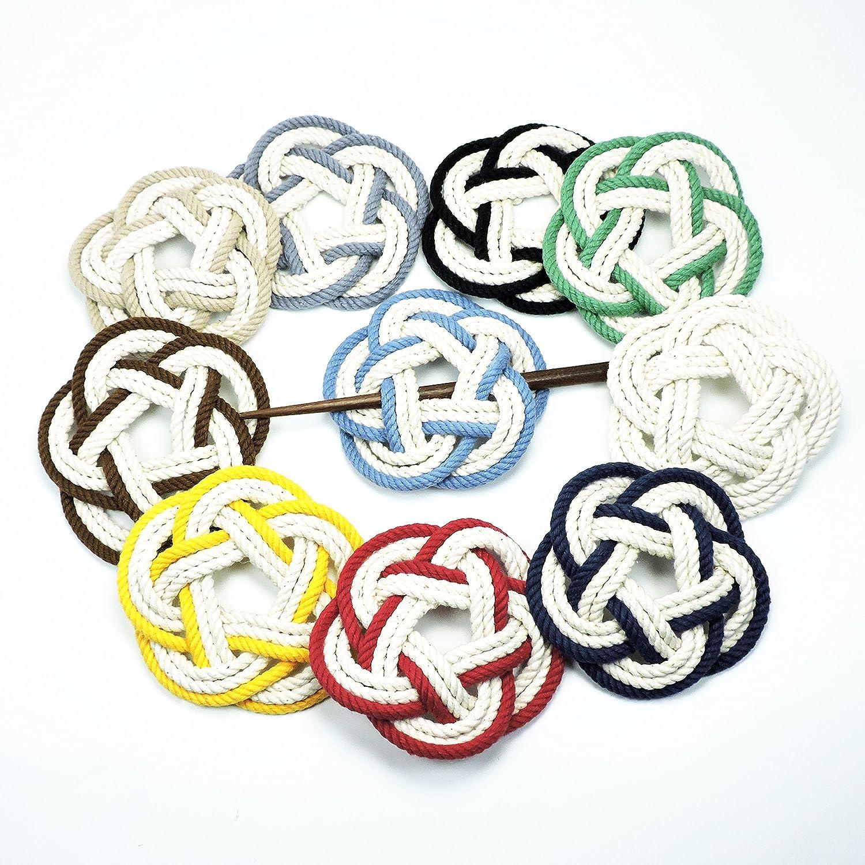 Sailor Knot Hair Stick Barrette in Nautical Colors
