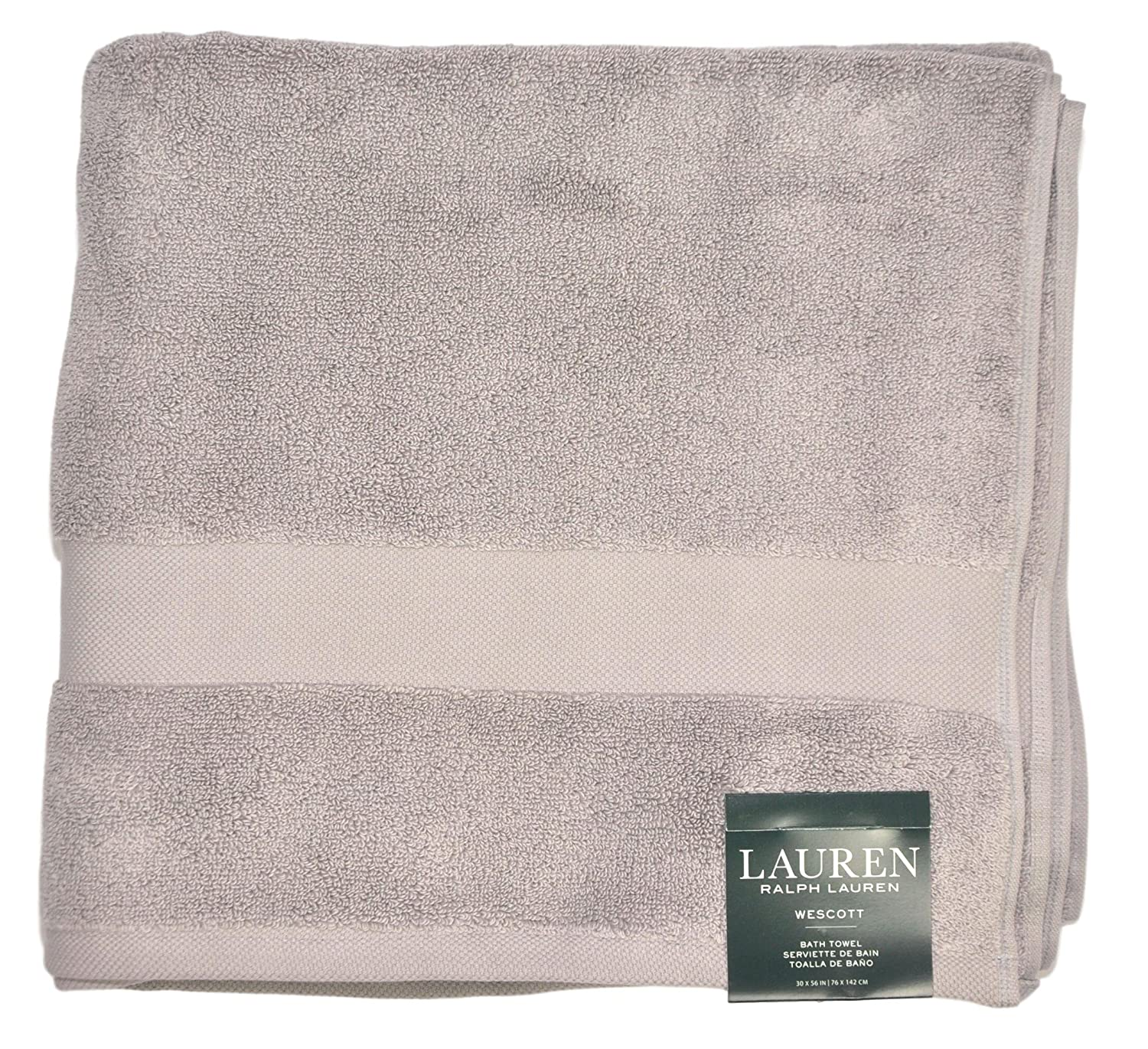Amazon.com: Ralph Lauren Wescott Luxurious Cotton Bath Towel, 56