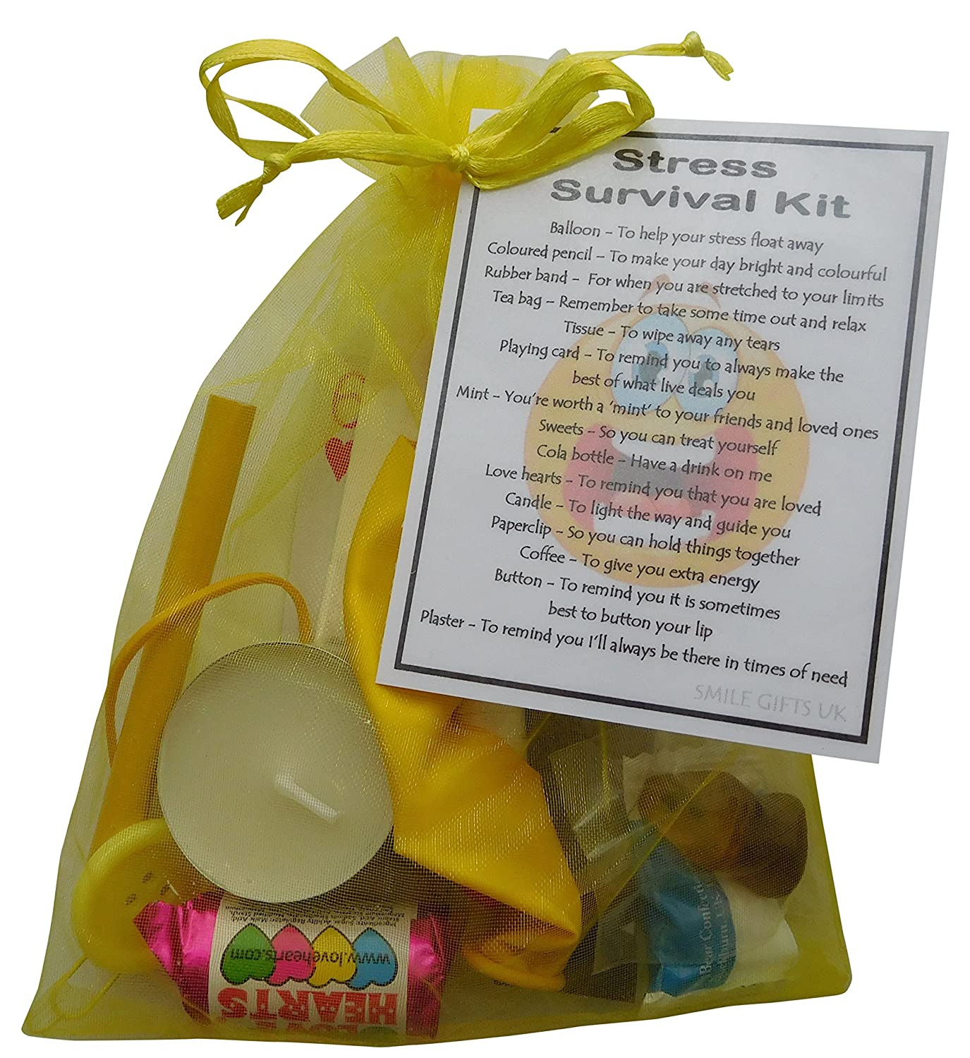 SMILE GIFTS UK Stress Survival Kit Gift Great Mini Novelty Relief To Cheer Up A Stressed Friend Or Loved One Secret Santa Work