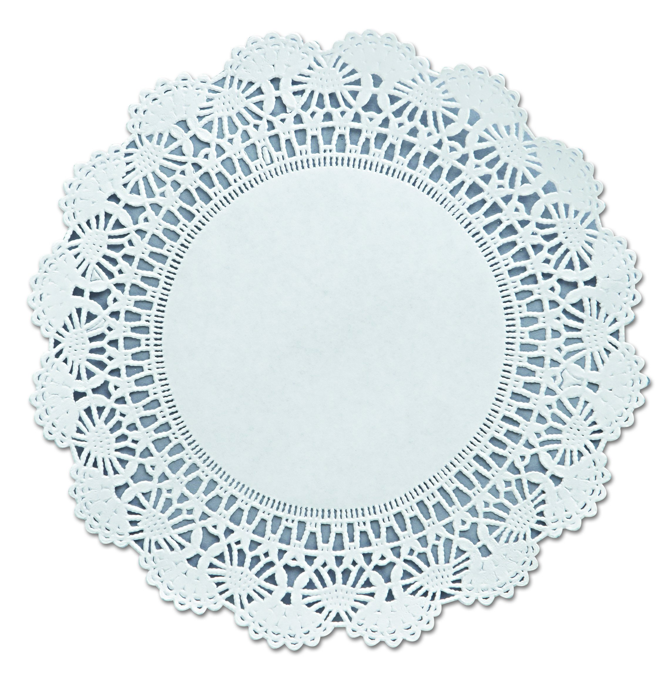 Hoffmaster 500236 Cambridge Lace Doilies, Round, 8'', White (Case of 1000) by Hoffmaster