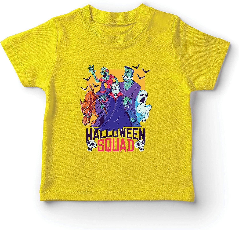 lepni.me Camiseta para Niño/Niña Escuadrón de Halloween - Vampiro, Fantasma, Hombre Lobo, Bruja, Zombie: Amazon.es: Ropa y accesorios