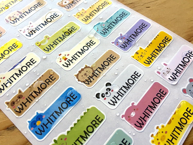 Amazon com 81 cute animal waterproof name sticker labels handmade