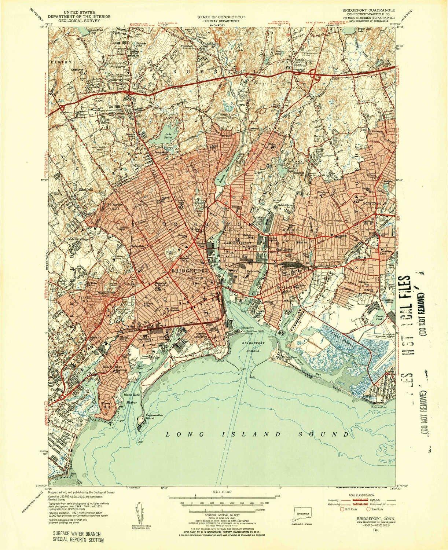 Topographic Map Ct.Amazon Com Yellowmaps Bridgeport Ct Topo Map 1 31680 Scale 7 5 X