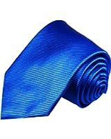 Cravate homme bleu uni 100% cravate en soie ( longueur 165cm )