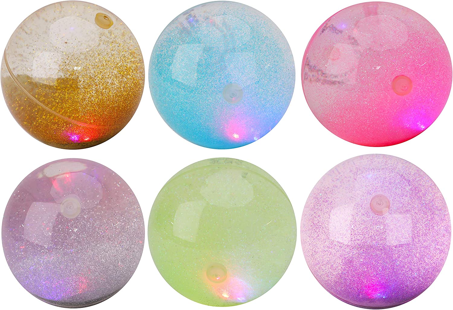 Toyland/® 10cm Light Up Bouncy Water Ball With Glitter