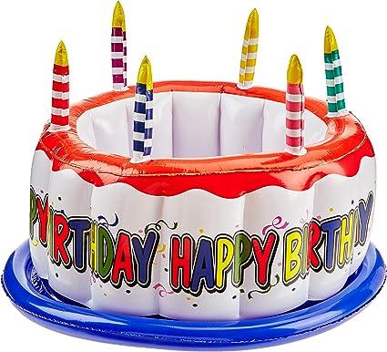 Amazon.com: Tarta de cumpleaños hinchable Cooler (1/Pkg ...
