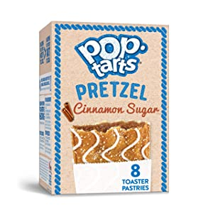Pop-Tarts Pretzel, Breakfast Toaster Pastries, Cinnamon Sugar(1 Pack, 8 count)