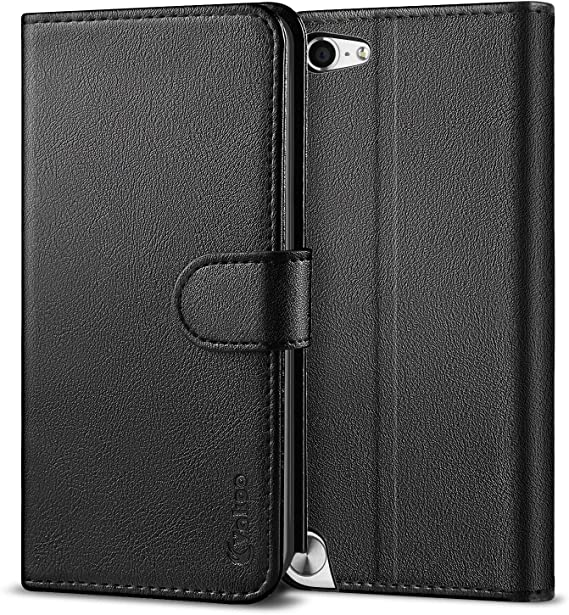 PU Leather Card Slot Wallet Flip Stand Cover Case For iPod Touch 5th 6th Gen