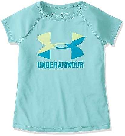 Under Armour Camiseta de Manga Corta con Logotipo Grande en Color único para niña, niña