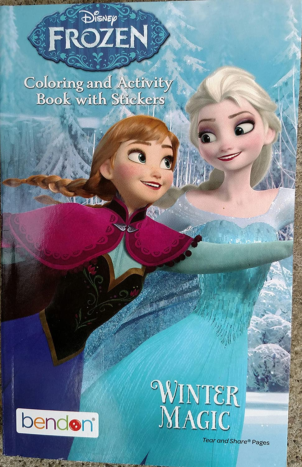 Amazon Disney Frozen Coloring Activity Book With Stickers Winter Magic Toys Games