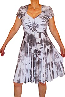product image for Funfash Plus Size Women Slimming Empire Waist White Black Dress New Made in USA