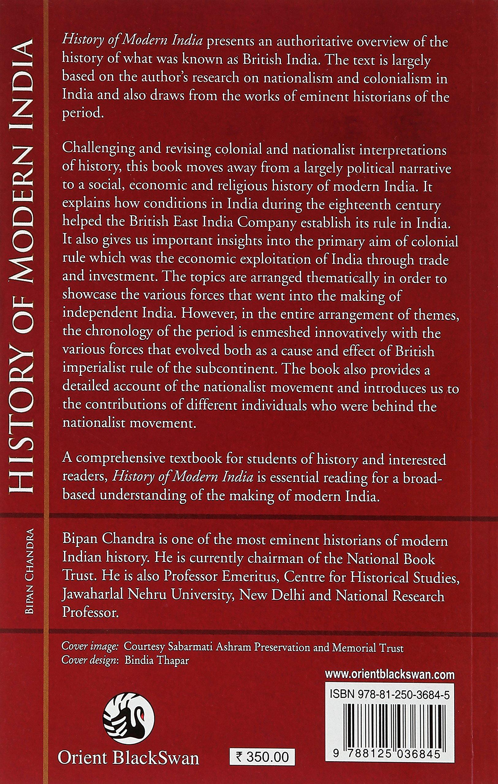 HISTORY OF MODERN INDIA BY BIPAN CHANDRA EBOOK