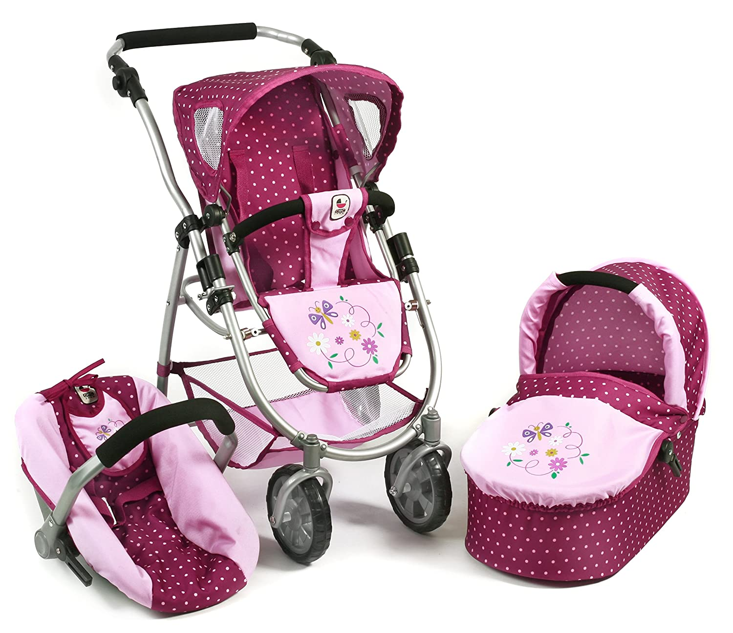 Bayer Chic 2000 637 29 29 637 - 3 in 1 Kombi Emotion All In, Dots Brombeere, lila/rosa a85c7f