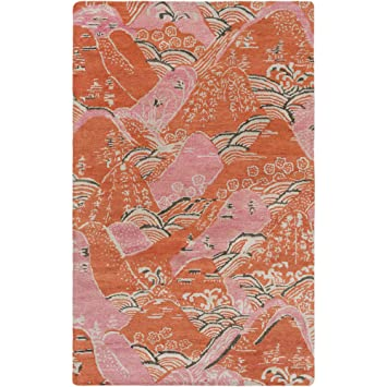Amazon Com Surya Ban3369 58 Banshee Pink Area Rug 5 X 8 Bright
