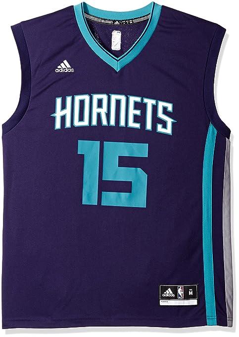 1aa5d8a8628 Amazon.com   NBA New Orleans Hornets Kemba Walker  15 Men s Replica Jersey
