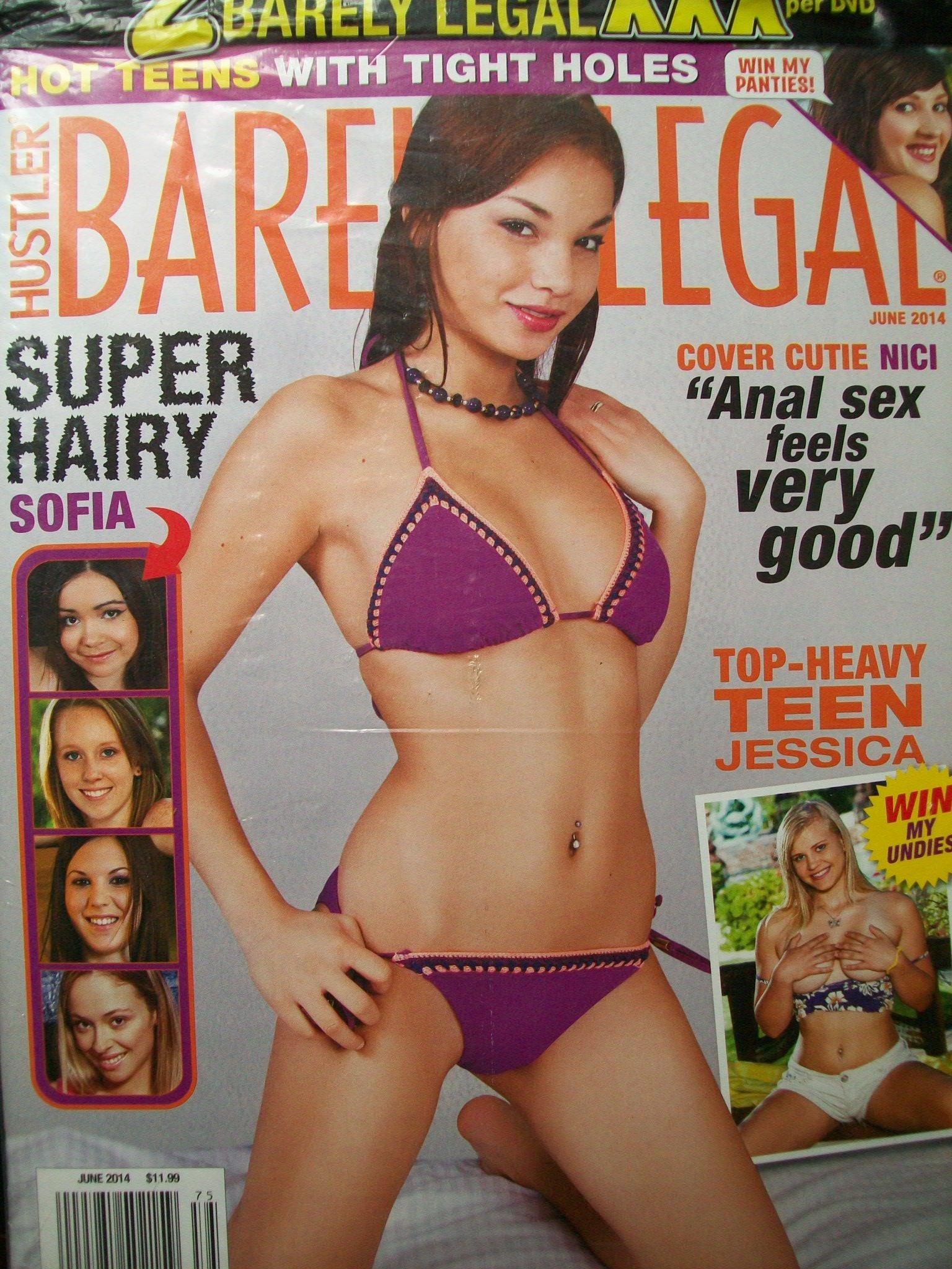 BARELY LEGAL Adult Magazine June 2014 by Hustler